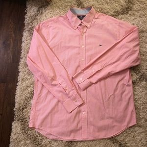 Vineyard Vines Slim Fit Whale Shirt Striped Pink